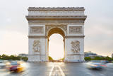 Fototapeta Fototapety Paryż - Arc de Triomphe in Paris, sunlight