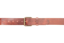 Brown Leather Belt With Buckle...