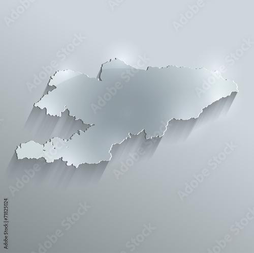 Kyrgyzstan map flag glass card paper 3D vector Wallpaper Mural