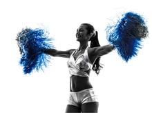 Young Woman Cheerleader Cheerleading  Silhouette