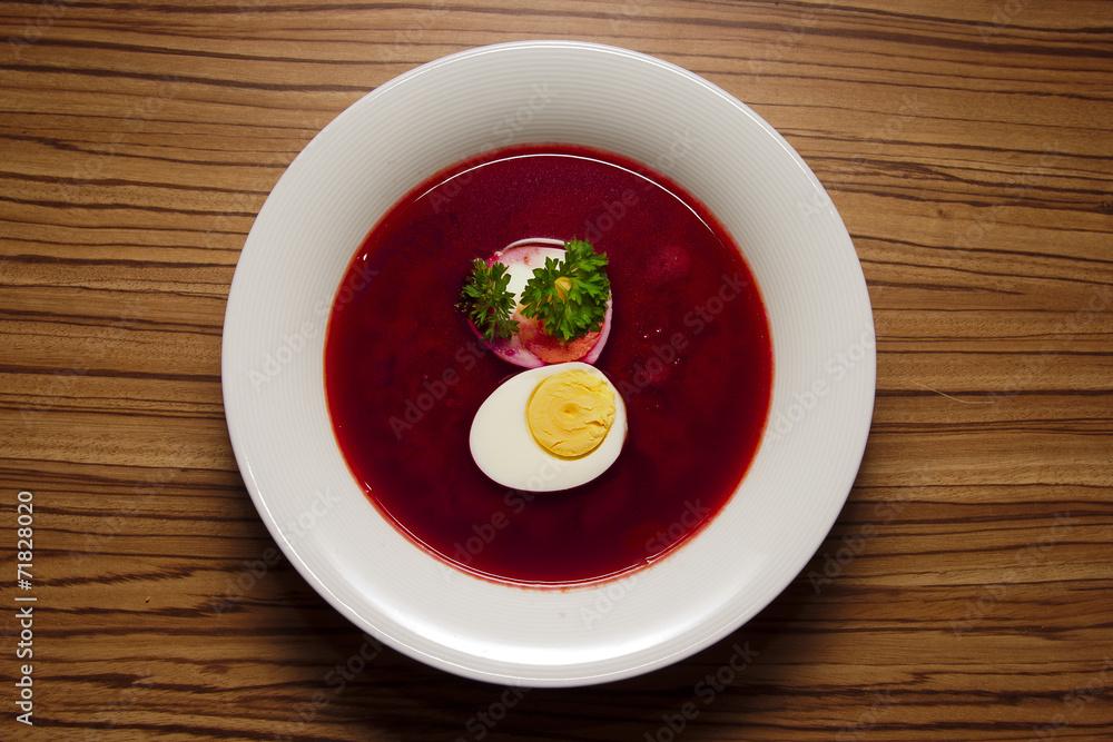 Fototapeta Smaczny barszcz czerwony