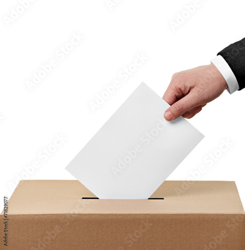 ballot box casting vote election Tablou Canvas