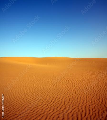 Poster de jardin Desert de sable evening desert landscape