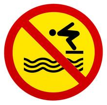 Sign Warning For No Lifeguard Service