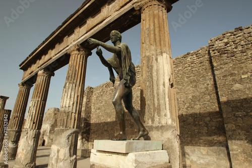 Garden Poster Napels Temple d'Apollon - Pompéi