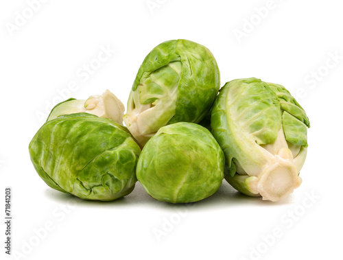 Stickers pour porte Bruxelles Brussels sprouts isolated
