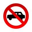 Autos Verbotsschild