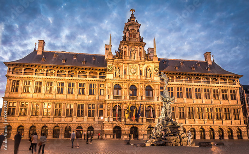 Foto op Plexiglas Antwerpen Beautiful Oldtown of Antwerp - Belgium
