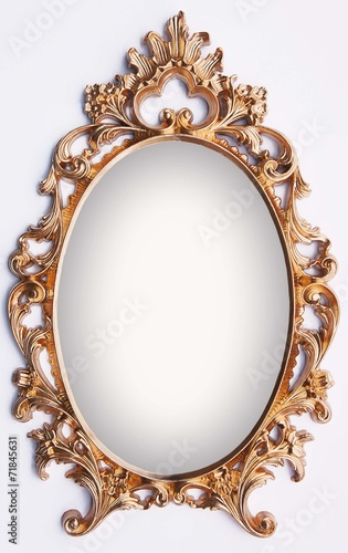 Vintage gold frame - magic mirror - Buy this stock photo and explore ...