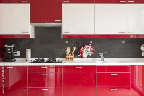 Fotografie, Obraz  cucina rossa