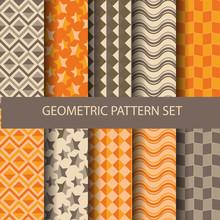 Yellow And Purple Geometric Set 2
