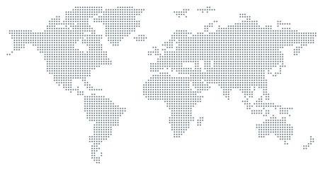 Fototapeta samoprzylepna Dotted World Map - grey