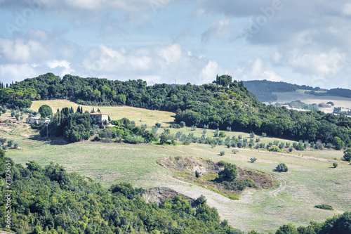 Foto op Aluminium Nachtblauw Beautiful landscape Tuscany