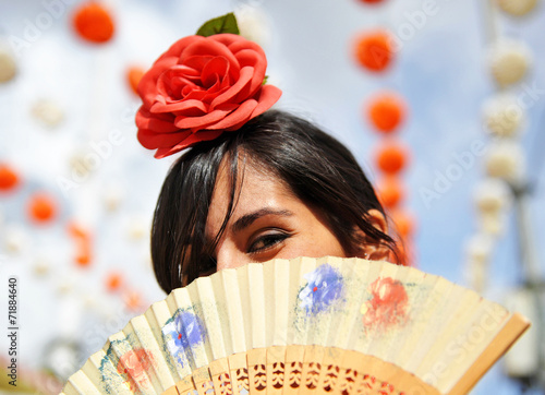 Andalusian women at the Fair, spanish woman