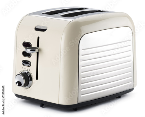Old fashioned toaster isolated on white background.