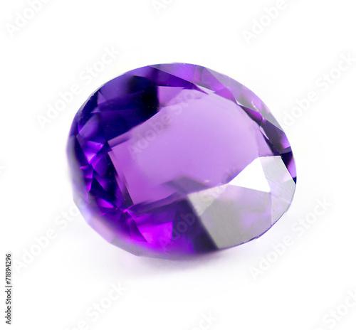Photo Closeup of natural purple amethyst gemstone