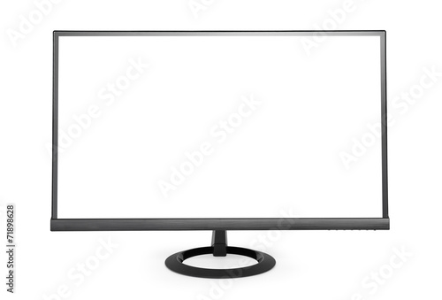 Fotografie, Obraz  Computer monitor isolated on white