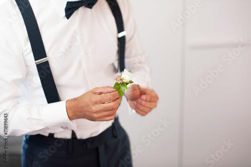 Fotografía  Boutonnière per vestito dello sposo