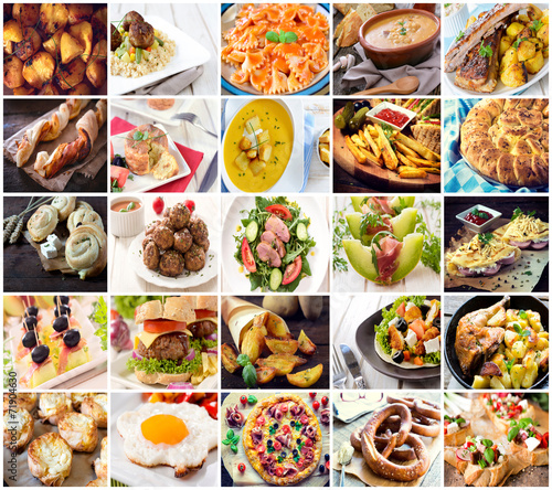 Many kind of differentfood photos in one © ltummy