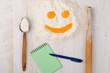 flour, eggs, milk, baking ingredients