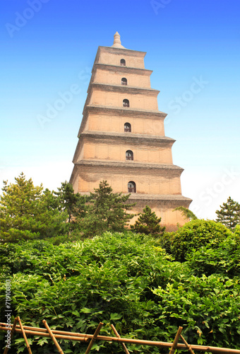 Fotobehang Xian Giant Wild Goose Pagoda, Xian, Shaanxi province, China