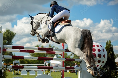 Deurstickers Paardrijden Equestrian