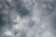 Rainy (or Rain) Cloud, Gray Color Background