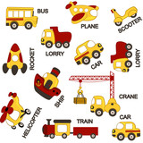 pattern transport - vector illustration, eps