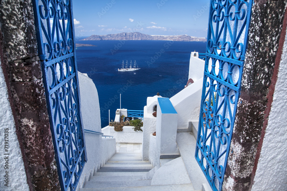 Fototapety, obrazy: Île de Santorin Grèce Cyclades