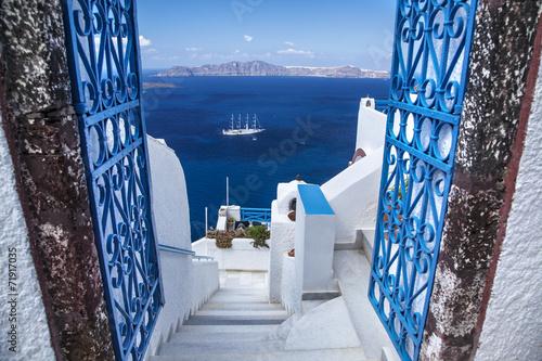 Obraz Île de Santorin Grèce Cyclades - fototapety do salonu