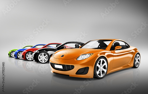 obraz-3d-kolekcji-samochodow-sportowych