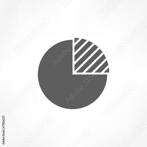 Fotografía  pie graph icon