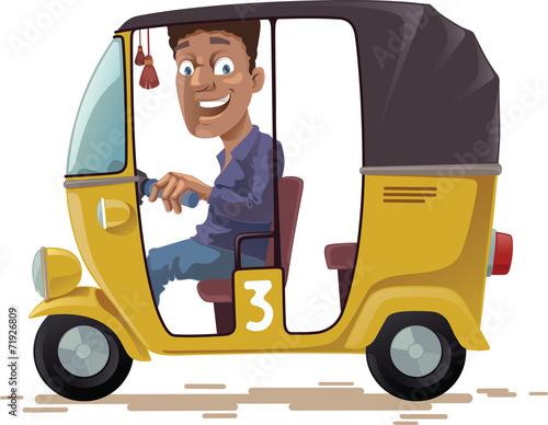Slika na platnu Asian Rickshaw