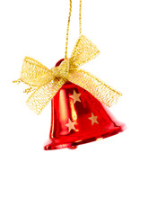 Red Christmas Bell Brightened