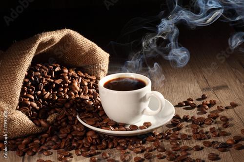 Fotografie, Obraz  Heisser Kaffee 3