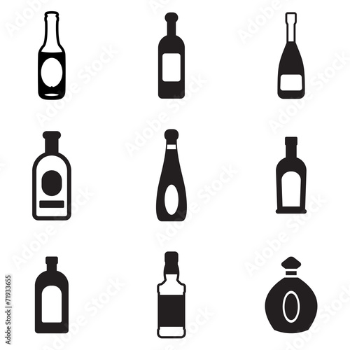 Bottle Icons Wallpaper Mural