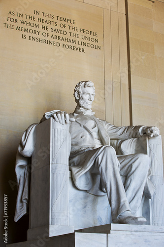 Foto  Abraham Lincoln statue, Lincoln memorial in Washington