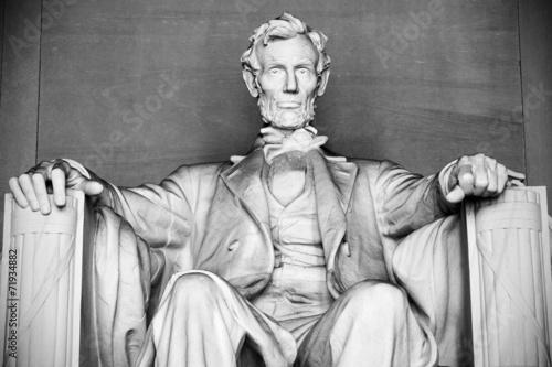 Fotografia  Abraham Lincoln statue, Lincoln memorial in Washington