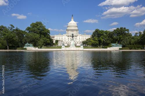 Fotografía  El edificio del Capitolio en Washington.