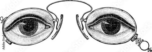 Fotografie, Obraz  Vintage graphic eyeglasses