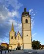 Deanery Church in medieval Town Pisek, Czech Republic