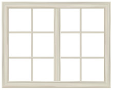 Vector Window Frame Isolated.