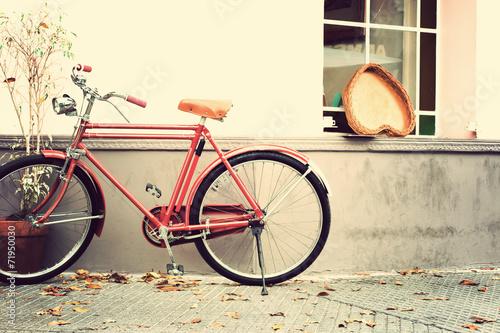 In de dag Fiets Vintage bicycle in the street