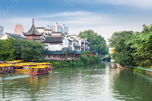 Printed kitchen splashbacks River the confucius temple in afternoon
