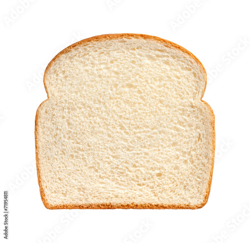 Fotografie, Obraz  Bread Slice isolated