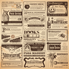 Wizarding Newspaper With Classifieds