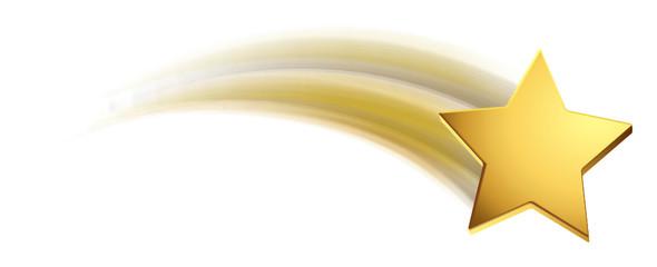 FototapetaSternschnuppe - Gold
