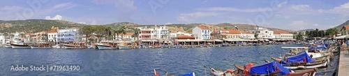 Foto auf AluDibond Schiff Eski Foca city center bay documentary panorama
