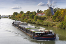 Freight Ship On The Mittelland...