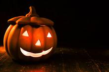 Halloween Kürbis Nacht Leucht...